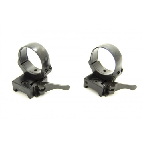Быстросъемные раздельные кольца Apel EAW на Weaver 34 мм (средние)