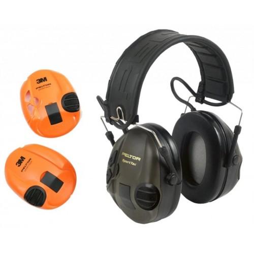 Активные наушники 3M Peltor Sport-Tac, сменные боковые панели (оливковые и оранжевые)