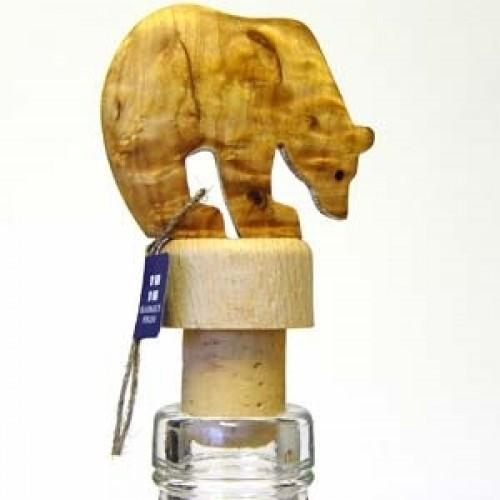 """Бутылочная пробка с деревянной статуэткой """"Медведь"""", Wood Jewel (Финляндия)"""