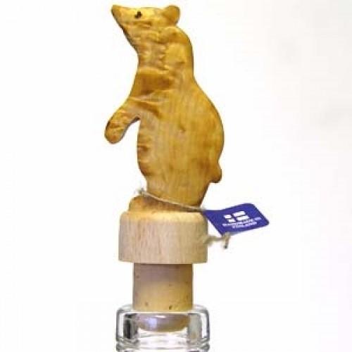 """Бутылочная пробка с деревянной статуэткой """"Медведь-2"""", Wood Jewel (Финляндия)"""