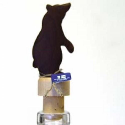 """Бутылочная пробка с деревянной статуэткой """"Медведь-3"""", Wood Jewel (Финляндия)"""