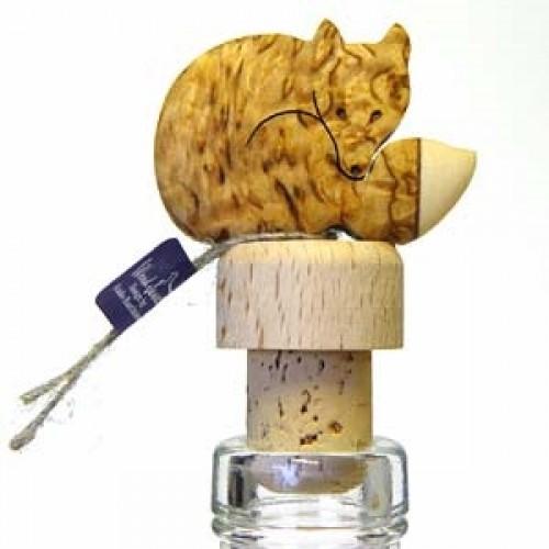 """Бутылочная пробка с деревянной статуэткой """"Лиса"""", Wood Jewel (Финляндия)"""