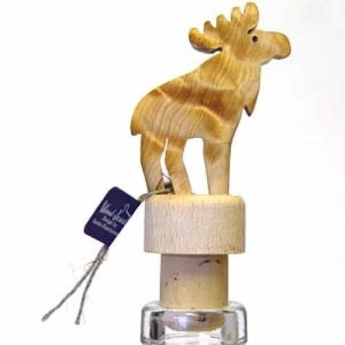 """Бутылочная пробка с деревянной статуэткой """"Лось"""", Wood Jewel (Финляндия)"""