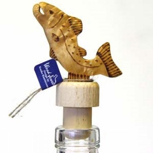 """Бутылочная пробка с деревянной статуэткой """"Лосось"""", Wood Jewel (Финляндия)"""