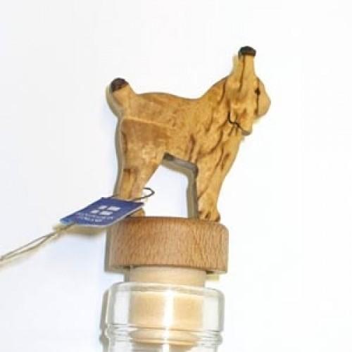 """Бутылочная пробка с деревянной статуэткой """"Рысь"""", Wood Jewel (Финляндия)"""
