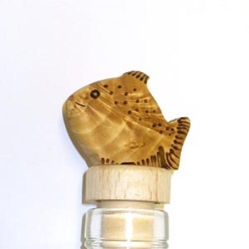 """Бутылочная пробка с деревянной статуэткой """"Рыбка"""", Wood Jewel (Финляндия)"""