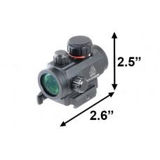 Коллиматорный прицел Leapers 1x21 (2-х цв.подсветка - точка)