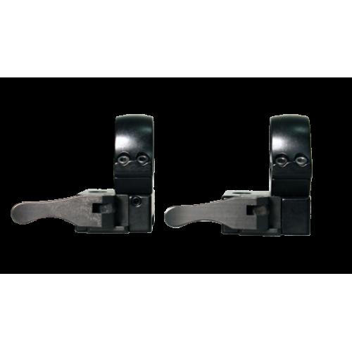 Быстросъемные раздельные кольца Apel EAW на Weaver 26 мм (средние),bh=15mm