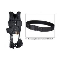 Полная тактическая разгрузка UTG Leapers (10 предметов), черный цвет