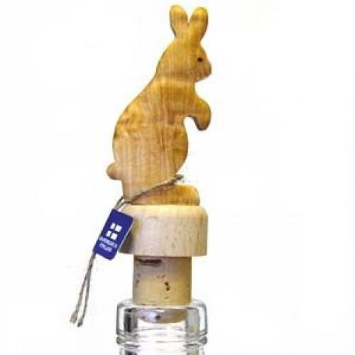 """Бутылочная пробка с деревянной статуэткой """"Заяц"""", Wood Jewel (Финляндия)"""