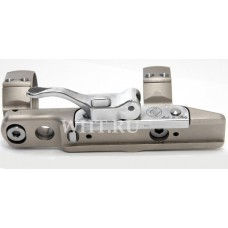Единое быстросъемное основание Contessa на призму 12 мм с выносом, с кольцами 26 мм, BH=5 мм, никель
