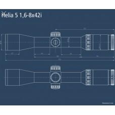 Оптический прицел Kahles Helia 5 1,6-8x42 (G4-B)