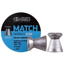Пульки JSB Blue Match S 100 к.4,50 мм 0,535 г.