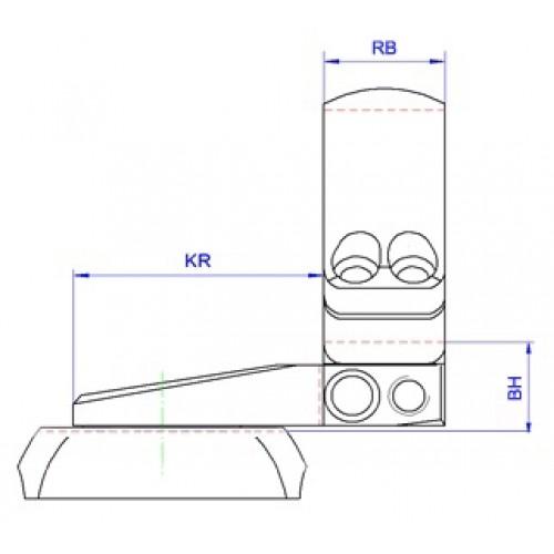 Быстросъемный поворотный кронштейн Apel EAW на Merkel SR1, 30 мм