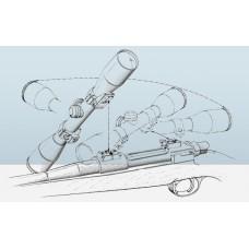 Быстросъемный поворотный кронштейн Apel EAW на Mini Mauser, 30 мм