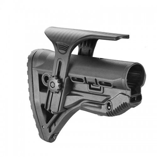 Амортизирующий приклад FAB-Defense AR15/M16/АК с упором для щеки GL-Shock CP, без трубки (чёрный)