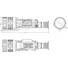 Тепловизионный прицел ThermoRay TRS-640/75